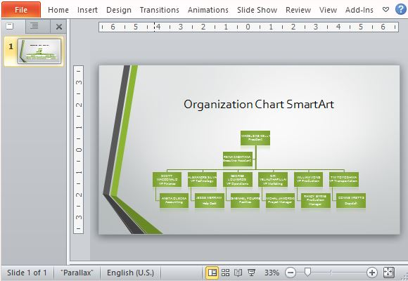 Sample Chart Templates org chart in ppt template : ... Organizational Chart Template For PowerPoint : PowerPoint Presentation