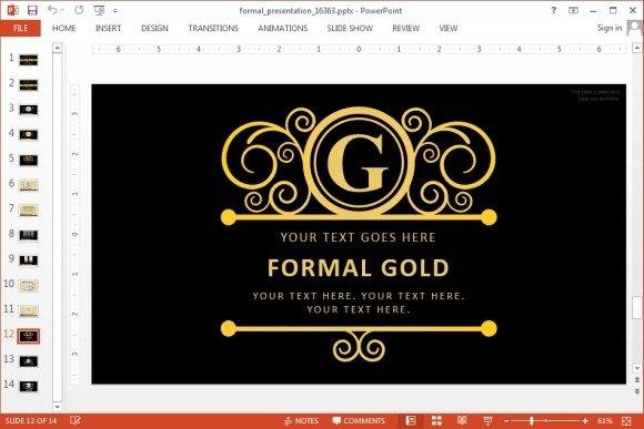 golden powerpoint templates