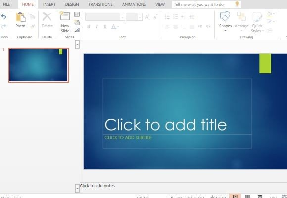 Ion Blue Powerpoint Template Powerpoint Presentation