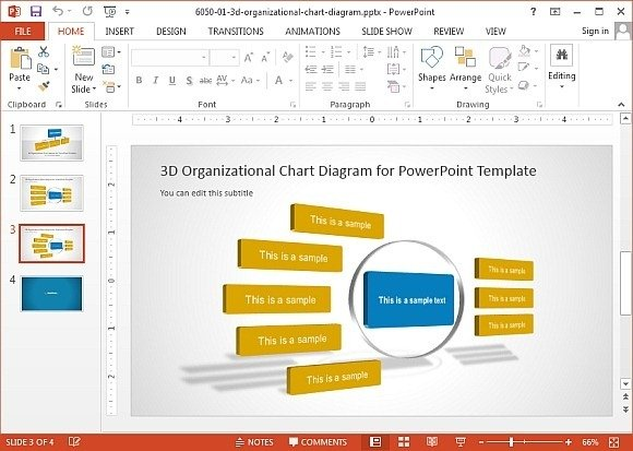Org Chart Template Powerpoint Zrom