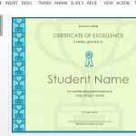 certificate-of-excellence-for-school-or-office-use
