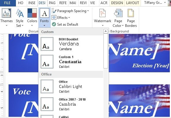 How to make political campaign bumper stickers in word for Campaign literature templates