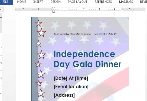 Independence day flyer template for word powerpoint for How to make my own powerpoint template