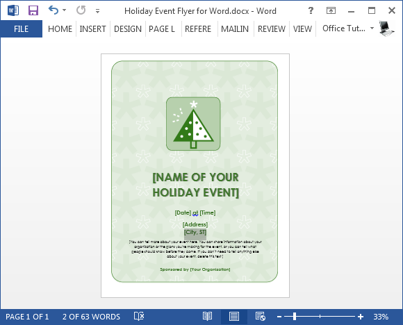 free holiday flyer template for word powerpoint presentation