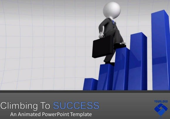 Climbing And Falling From Success PowerPoint Template