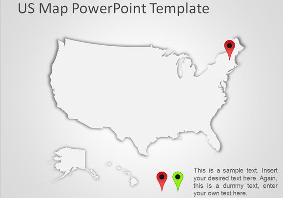 free us map for powerpoint