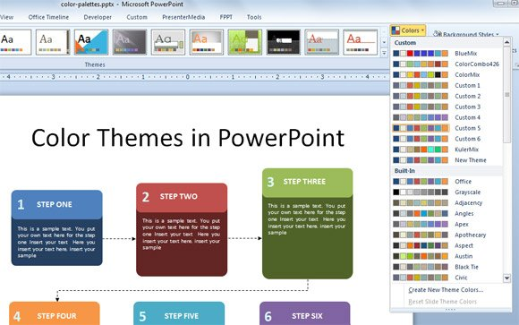 how to export color themes in powerpoint 2010. Black Bedroom Furniture Sets. Home Design Ideas