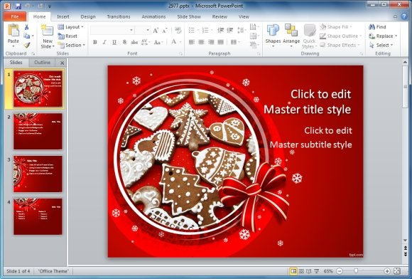 Christmas Baking Template For PowerPoint