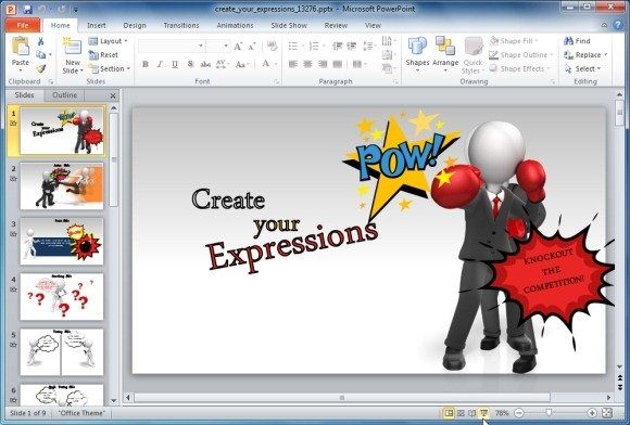create your own ppt template