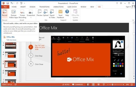 record video tutorial with office mix